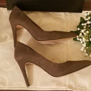 Christian Siriano Shoes - Christian Siriano Olive Faux Suede Pumps-Payless